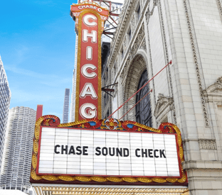 Chase Sound Check at Chicago Theater